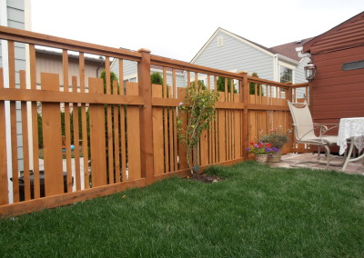 Cedar Fence with Spaces