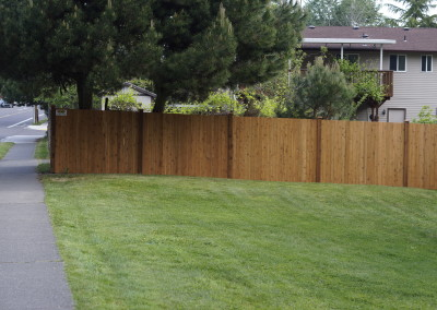 City Wide Fence — Estate Style Cedar Fence with Aspen Stain