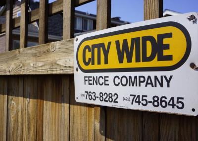 Custom Built Cedar Fence