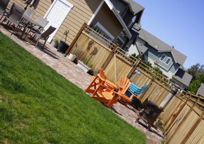 Custom Cedar Back Yard Fence