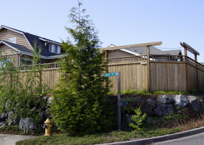 Custom Cedar Fence Lynnwood