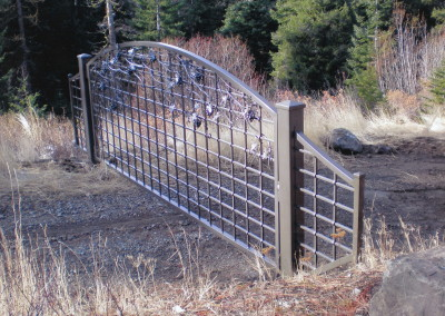 OI Custom Gate with Grapes