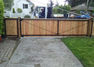 Steel Frame Slide Gate-Back