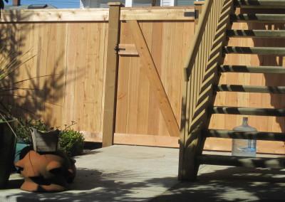 """Full Panel Cedar Gate """"Back Side"""""""