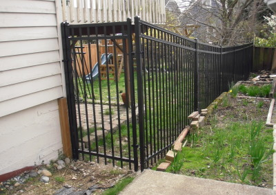 Tango Rail Iron Fence with Gate in Monroe WA