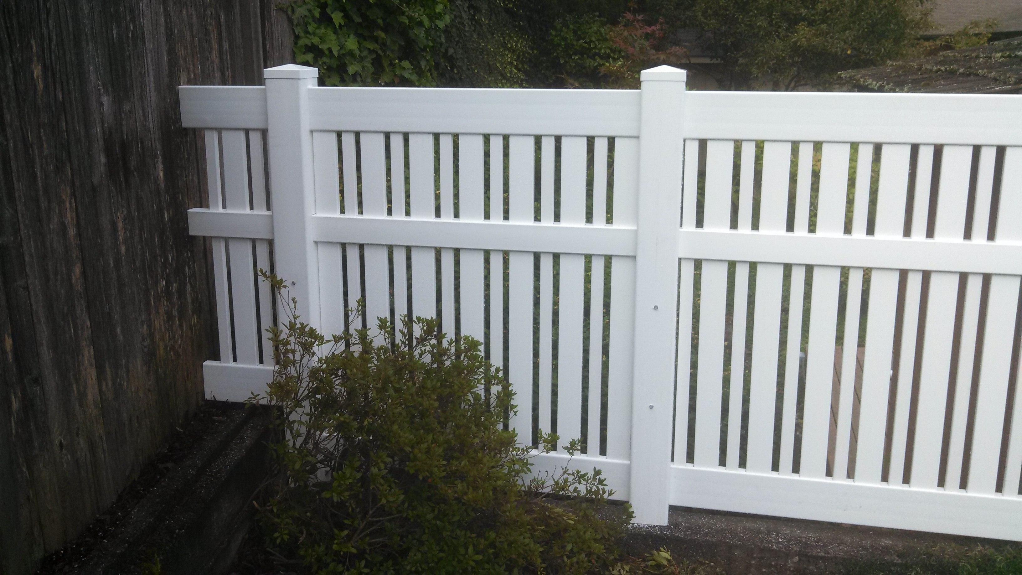 vinyl picket fence front yard. Vinyl Contemporary 2 Picket Fence Front Yard